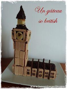 Réalisez un gâteau spécial Londres avec mon tuto pour créer un Big Ben sans pâte à sucre. Une idée pour un anniversaire sur le thème de l'Angleterre.