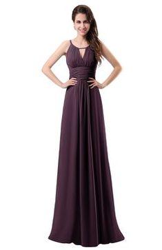 28397402db ColsBM Daisy Plum Simple Column Scoop Chiffon Ruching Bridesmaid Dresses  Eggplant Bridesmaid Dresses