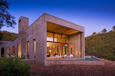 Contemporary concrete single family residence designed by Shubin + Donaldson Architects situated in Toro Canyon, California.