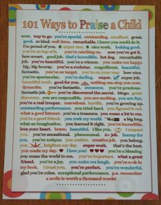 """Sometimes we need reminders to praise our kids. Here's Ways to Praise a Child"""" Printable FREE for a limited time. Affirmations For Kids, Positive Affirmations, Child Life Specialist, Im Proud Of You, Ideas Geniales, Classroom Management, Behaviour Management, Behavior, Raising Kids"""