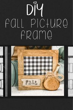 I have a SUPER CUTE and SUPER CHEAP picture frame idea for you today for FALL! A few supplies that you probably have on hand (at least mostly) is all you need! #DIYPictureFrame #FallDecor #FallCraftIdeas Dyi Fall Decor, Fall Diy, Fall Decorations, Frame Crafts, Diy Frame, Diy Craft Projects, Diy Crafts, Craft Ideas, Cheap Picture Frames
