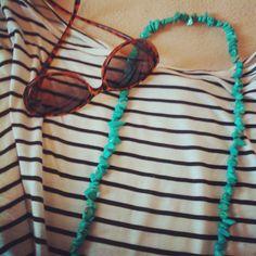 summer stripes teal