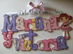 Wooden Crafts, Diy And Crafts, Crafts For Kids, Arts And Crafts, Painted Letters, Wooden Letters, Name Decorations, Country Paintings, Country Crafts