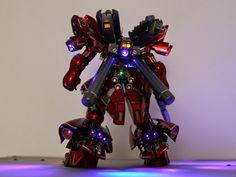 GUNDAM GUY: MG 1/100 Sazabi Ver Ka - Cuatomized Build + LEDs
