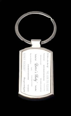 50 Shades of Grey Quotes Key Chain