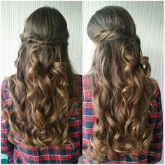 #longhair #brunette #updo #halfuphalfdown #curls #twist #prom #graduation #wedding #party #bridesmaid