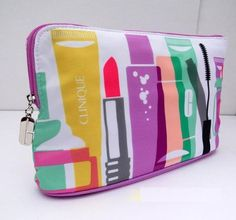 Clinique Beauty Makeup Travel Cosmetic Large Bag Makeupie