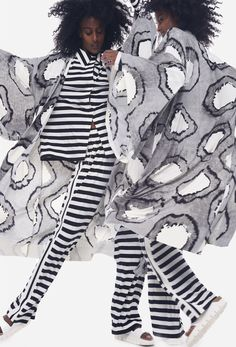 Norma Kamali, Vogue Paris, Stripes, Spring, Spring Summer, Line Art