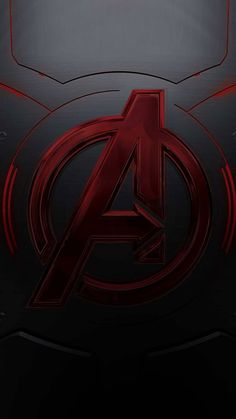 This red,black and dark grey avengers logo will surely add depth to your mobile phone's screen. Hq Marvel, Marvel Comic Universe, Marvel Memes, Marvel Cinematic Universe, Marvel Comics, Avengers Room, The Avengers, Iron Man Wallpaper, Hd Wallpaper