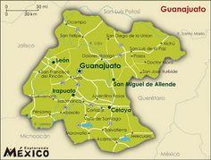 Mexico Map Guanajuato.Leon Guanajuato Mexico Map Mapzones Com Leon Map Maps