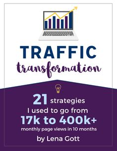 Grow your blog and get more page views with these simple strategies! Are you ready for a traffic transformation? Click here. (affiliate link)