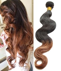 """250g 10""""-30"""" 1B/30# Ombre Human Hair Extensions High Quality Body Wave ! Wefts #WIGISS"""