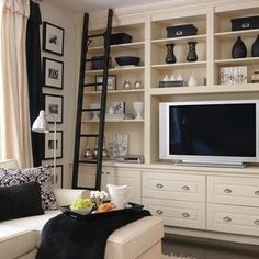 Diy built in entertainment center ideas view gallery wall unit system from living room media lovely . diy built in entertainment center Home Entertainment Centers, Entertainment Wall, Tv Built In, Built Ins, Living Tv, Home Living Room, Period Living, Home Design, Design Ideas