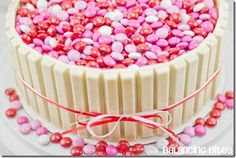 Valentines Kit Kat Cake