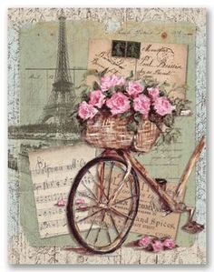 vintage bicycle images for decoupage - It's a Bike Thing - Decoupage Vintage, Art Vintage, Vintage Tags, Vintage Labels, Vintage Ephemera, Vintage Paper, Vintage Postcards, Vintage Prints, Decoupage Art