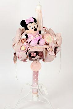 http://www.tonimalloni-shop.com LUMANARE BOTEZ CU MINNIE MOUSE LADY, DISNEY BOTEZ