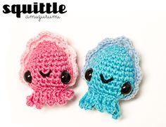 Adorably Kawaii: Squittle: Mini Cuttlefish Amigurumi