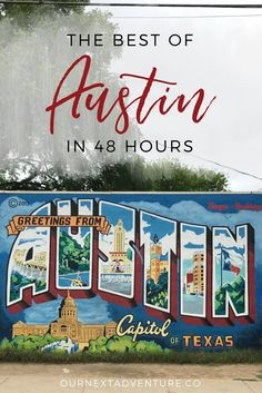 There's lots to do in the Texas capital, but if you're short on time, you can still experience the city! Here's how to see the best of Austin in 48 hours. Things To Do In Austin Tx, Austin With Kids, Weekend In Austin, Texas Things, Texas Roadtrip, Texas Travel, Travel Usa, Travel Logo, Canada Travel
