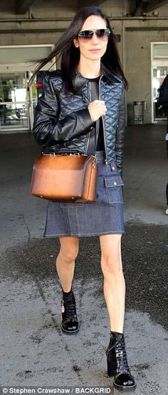 Go hell for leather like Jennifer in Louis Vuitton #DailyMail