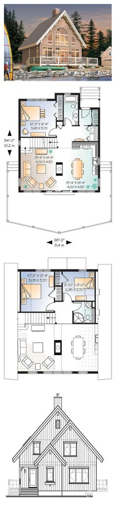1000 images about lakefront home plans on pinterest for Lakefront home floor plans