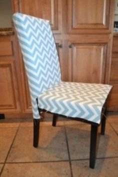 DIY: How To Make A Chair Slip Cover Going To Do This For The Dining Room  Table But With Purple And Chocolate Brown !