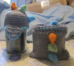 """Newborn Dino Hat and Diaper Cover.  I used the base free crochet pattern """"Baby Monkey Hat"""" by easymakesmehappy and the free crochet pattern """"Dandelion Dreamer's crochet Soaker"""" .  The rest I made up to make a Dino set for my cousin that is due soon."""