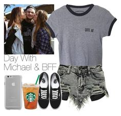 """""""Day With  Michael & BFF"""" by hana-69 ❤ liked on Polyvore featuring Boohoo, Vans and Case-Mate"""