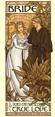 Princess Bride art. The book is a million times better than the move- if you can even comprehend that.