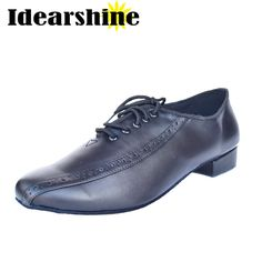 ==> [Free Shipping] Buy Best Top Selling Genuine Cow Leather Latin Dance Shoes Men Black Ballroom Shoes Square Heels Men Sneakers Lightweight Dancing Shoes Online with LOWEST Price | 32816213871