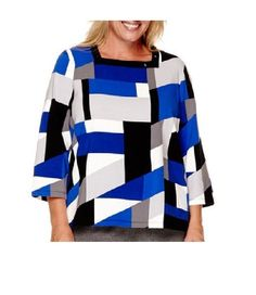 Alfred Dunner Womens Colorblock Top Madrid cotton spandex multi size L NEW  16.99 http://www.ebay.com/itm/Alfred-Dunner-Womens-Colorblock-Top-Madrid-cotton-spandex-multi-size-L-NEW-/252678349734?ssPageName=STRK:MESE:IT