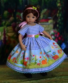 """SOLD - """"Dorothy's World"""" Dress, Outfit, Clothes for 13"""" Dianna Effner Little Darling #LuminariaDesigns"""