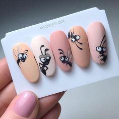 Photo shared by Akademia Semilac on January 2019 tagging Image may contain: text that says 'AMANDASUDO' Animal Nail Designs, Nail Art Designs Videos, Nail Art Videos, Toe Nail Designs, Cat Nail Art, Animal Nail Art, Rose Nail Art, Trendy Nails, Cute Nails