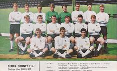 DERBY COUNTY FOOTBALL TEAM PHOTO 1968-69 SEASON | eBay