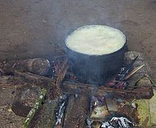 Ayahuasca cooking in the Napo region of Ecuador