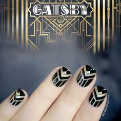 The Great Gatsby Nails - Omg I HAVE to do these nails now! I just | http://howtodoyournails.blogspot.com