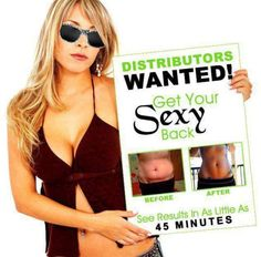 Get your Sexy back! Look Great & get yourself to the #DebtFree status! Do what I do! #enjoy it! Inbox me LouAnnWrapsYouSkinny