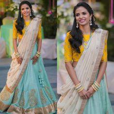 Pretty as ever in a Jayanti Reddy Lehenga! @pratyusha #JayantiReddyLabel #JayantiReddy