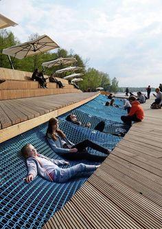 Paprocany 11 fot Tomasz Zakrzewski « Landscape Architecture Works Landezine is part of Public space design - Urban Furniture, Street Furniture, Furniture Design, Garden Furniture, Concrete Furniture, Concrete Art, City Furniture, Polished Concrete, Furniture Legs