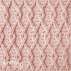 reversible-stitch-patterns | Knitting Stitch Patterns - hay muchos puntos reversibles!