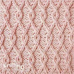 reversible-stitch-patterns | Knitting Stitch Patterns - hay muchos puntos reversibles!