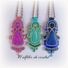 Soutache Pendant, Soutache Earrings, Beaded Brooch, Pendant Necklace, Brooches Handmade, Handmade Jewelry, Soutache Tutorial, Jewelry Patterns, Shibori