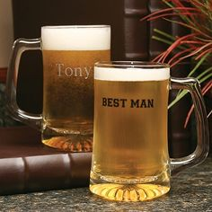 Mugs for Him - Best Man Personalized beer mugs for the wedding party ZBK41902