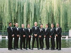 Wedding Groomsmen suits should be paid as much attention as bridesmaid dresses! We mean, they are your best friends, your brothers, the men that will see you get married even if you get cold feet! We have covered wedding attire groom related, but your groomsmen need their very own unique wedding tuxedos or suits or outfits that will make everyone know that those are the great men who will stand by your side while you go through the best day in your life and all those days to come! Best Wedding Suits, Tuxedo Wedding, Wedding Attire, Wedding Tuxedos, Unique Weddings, Real Weddings, Tuxedo Suit, Sharp Dressed Man, Groom And Groomsmen