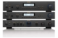 Rotel - 12 serie  (RT12: FM and DAB+ Tuner with internetradio and streamingaudio; RA12: integrated amplifier; RCD12: CD-player)