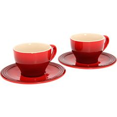 New espresso machine means I need new cappuccino cups from Le Creuset.