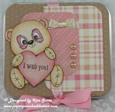 Peachy Keen Stamps Challenge, cute bear...