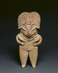 Female Figurine, c. 400-100 BC  Mexico, Chupicuaro, Guanajuanto  earthenware with pigments, Overall: 22.5 x 10.5 cm