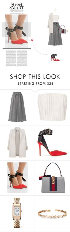 """Street Smart"" by naudad ❤ liked on Polyvore featuring WithChic, Thierry Mugler, Max & Moi, Monse, Gucci, Jaeger-LeCoultre, Suzanne Kalan and Rebecca Minkoff"
