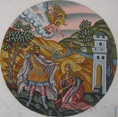 Miniature icon of Martyrdom of Saint Barbara.