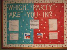 Political party affiliation bulletin board